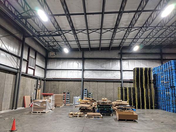 New LED lighting in CHEP pallet warehouse