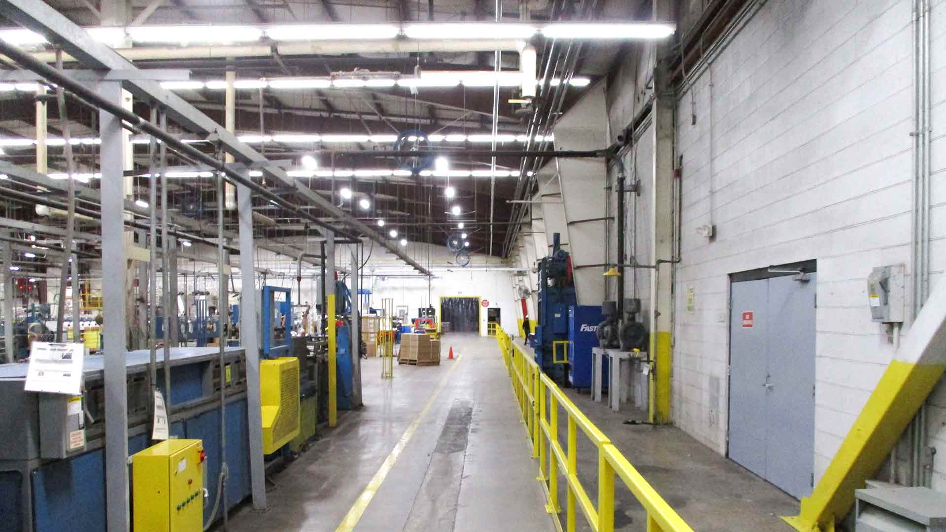 Manufacturing building with LED Tube Lighting